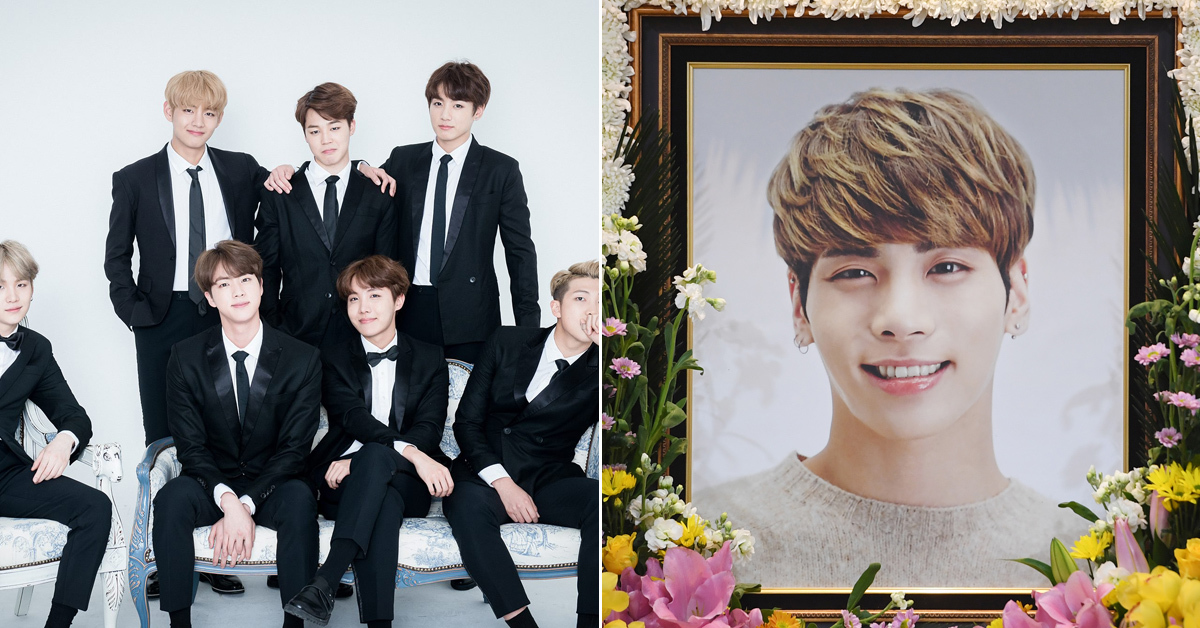 BTS ⓒ Big Hit Entertainment (left) and Jonghyun ⓒ Ilgan Sports (right)