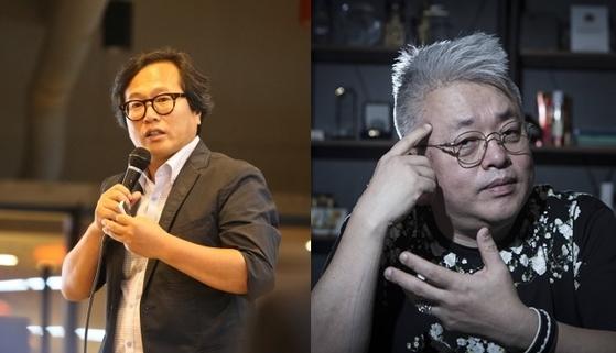 맛 칼럼니스트 황교익(왼쪽)과 작곡과 김형석 [중앙포토]