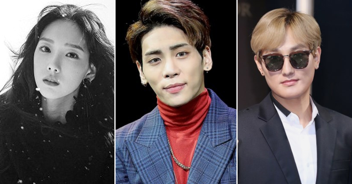 18일 종현과 같은 소속사 SM엔터테인먼트 가수들은 일정을 잇달아 취소했다. 공식 일정 취소를 알린 태연(왼쪽)과 강타(오른쪽). [일간스포츠]