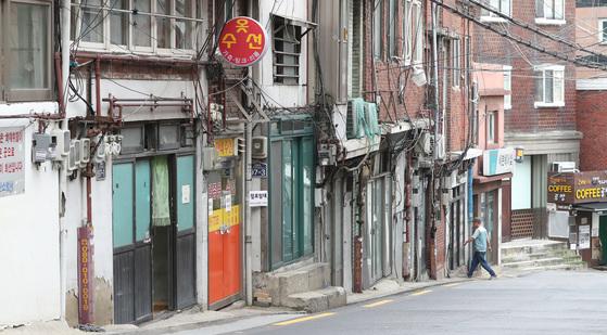 도시재생활성화 시범사업 지역을 선정된 서울시 용산구 해방촌의 모습. [중앙포토]