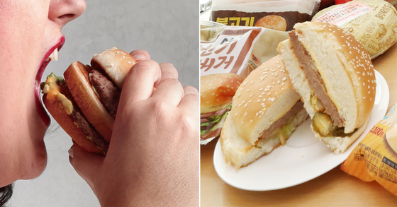 18일 한국소비자원이 발표한 편의점 햄버거 3종, 14개제품 비교 조사 결과 [연합뉴스]