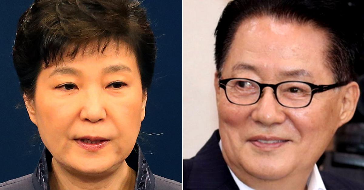 박근혜 전 대통령(左)ㆍ박지원 전 국민의당 대표(右). [중앙포토]