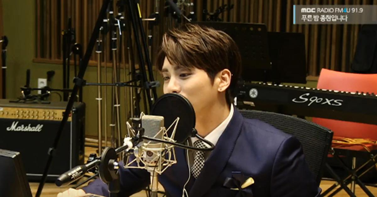 "Jonghyun as the host of the radio show ""Blue Night"""