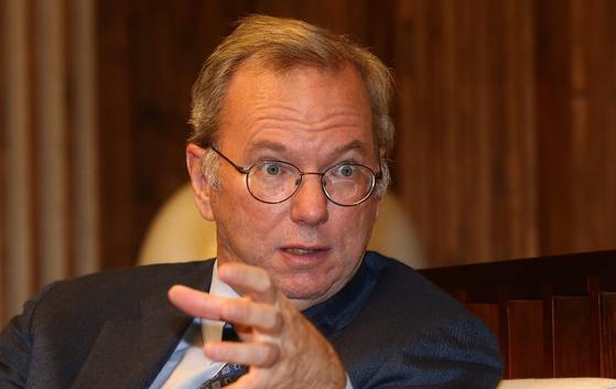 에릭 슈미트(61·사진) 구글 회장.