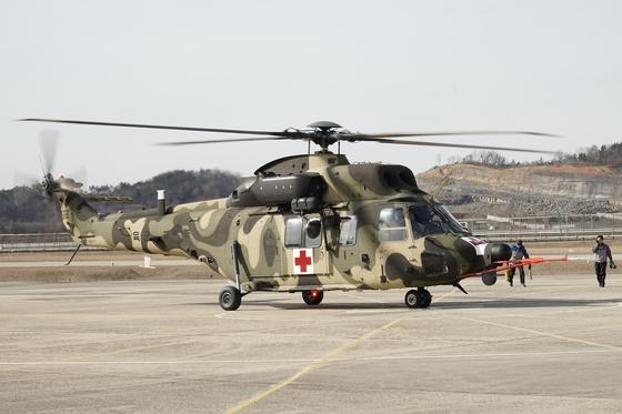 한국우주항공(KAI)이 지난 2016년 12월 개발을 완료한 의무후송 전용 헬기.