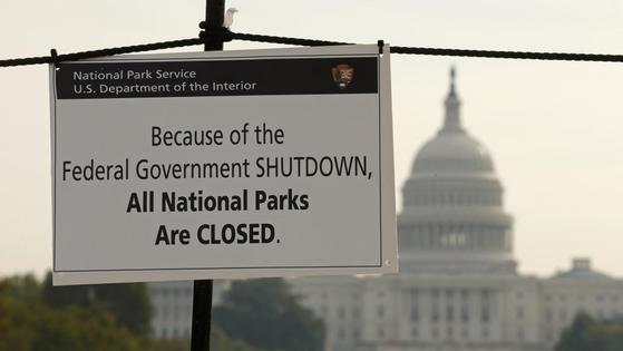 지난 2013년 10월 연방정부가 셧다운 됐을 때 미국 내 국립공원들은 문을 닫아야만 했다.