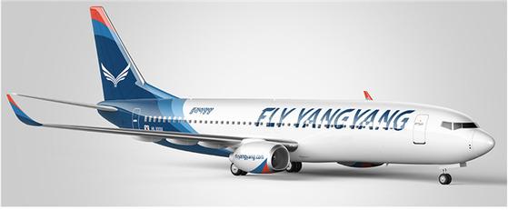 플라이양양이 이달 중 들여올 예정이었던 B737-800기종. 189명의 승객이 탈 수 있다. [사진 플라이양양]