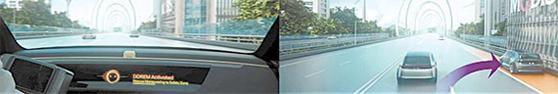 정상운전이 힘들때 때 차량이 스스로 안전한 곳으로 이동·정차하는 'DDREM' 기술. [사진 현대모비스]