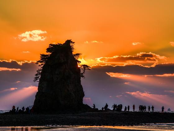 태안해안국립공원 꽃지해수욕장의 일몰 [사진 국립공원관리공단]