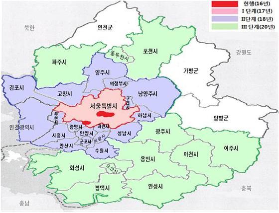 경기도 노후 경유차 운행 제한 지역 [사진 경기도]