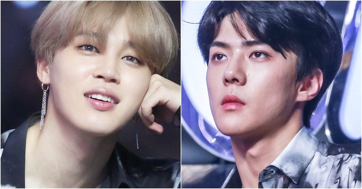BTS' Jimin(left) and EXO's Sehun. Photo from online community.