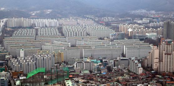 서울 대치동 은마아파트(현재 4424가구) 전경. [중앙포토]