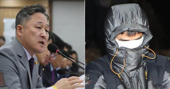 표창원 더불어민주당 의원(좌)과 고준희 양 친부(우) [연합뉴스]
