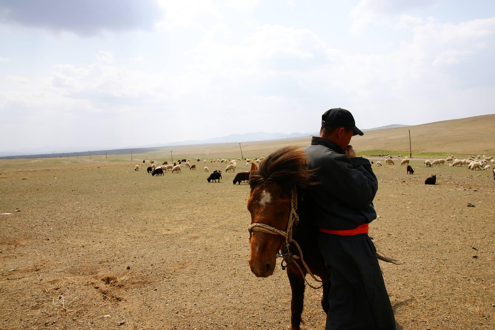 사막화로 인해 몽골 유목민들의 시름이 깊어가고 있다. [사진 푸른아시아]