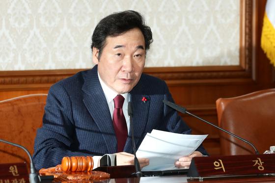 지난해 12월29일 오전 정부서울청사에서 이낙연 총리가 국무회의 모두발언을 하고 있다. 장진영 기자