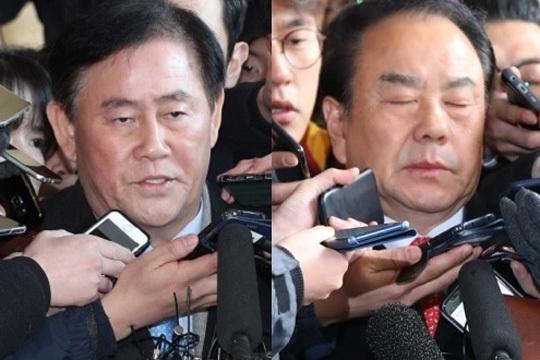 3일 영장실질심사를 받게 된 최경환(왼쪽)ㆍ이우현 의원. [중앙포토]