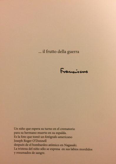 프란치스코 교황의 신년 연하장. [사진 Vatican Press Office(바티칸 공보실)]