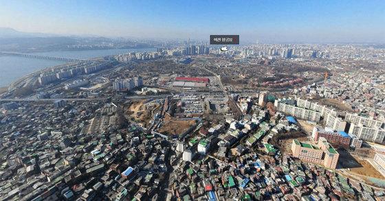 서울 용산구 주한미군 부지. 용산공원으로 조성될 예정이다. [사진 네이버 지도]