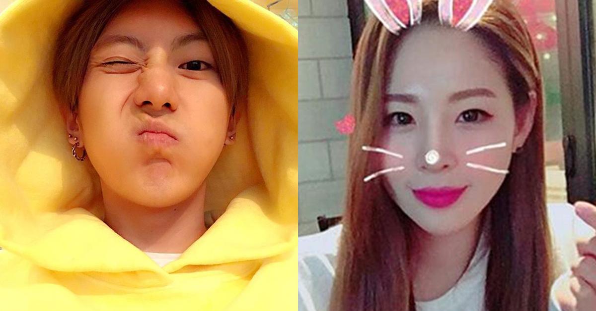 Jang Hyun-seung(left) and Shin Soo-ji. Photo from Instagram @89_h and Instagram @shinsjsj