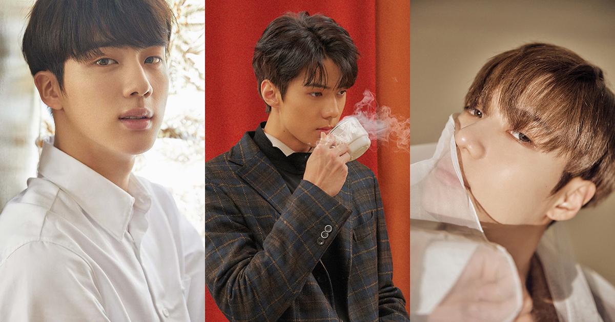 Jin of BTS ⓒ Big Hit Entertainment (left), Sehun of EXO ⓒ SM Entertainment (center), Taemin of SHINee ⓒ SM Entertainment (right)