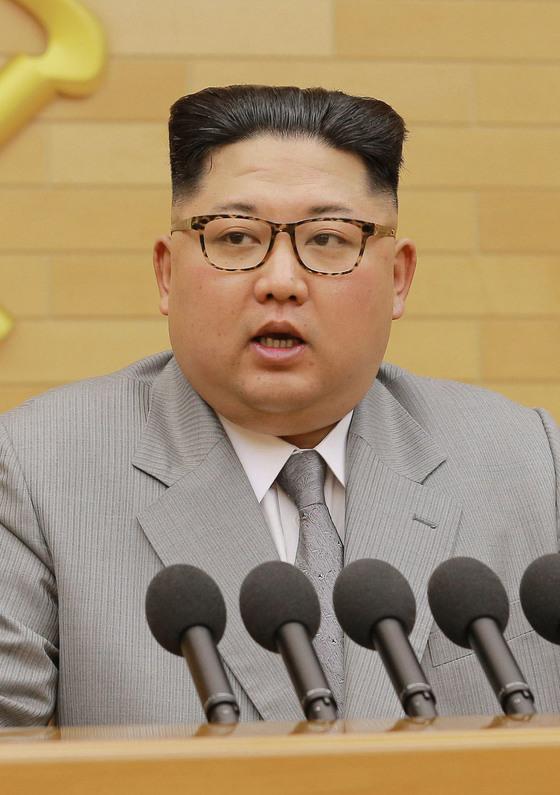 지난 1일 신년사를 발표하는 김정은 북한 노동당 위원장. 평창의 북한 참가 가능성을 처음으로 언급했다. [연합뉴스]