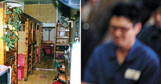 왼쪽사진은 2002년 사건이 벌어졌던 서울 구로구 호프집. 오른쪽 사진은 기사 내용과 관계 없음. [서울경찰청, 영화 변호인 캡처]