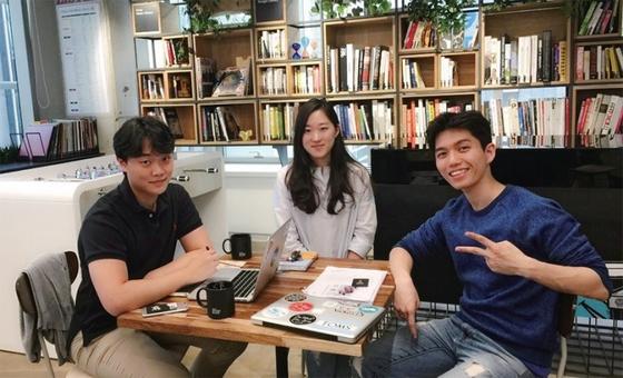 세이글로벌 공동 창업자인 조용민·조연정·윈쿠안(왼쪽부터) 이들은 1992년생 동갑내기다. / 사진:세이글로벌