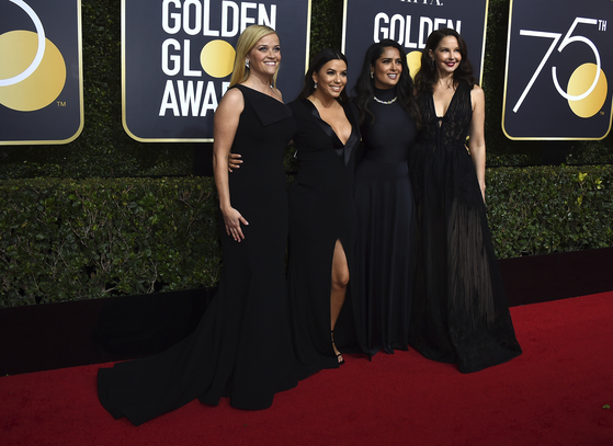 Reese Witherspoon, Eva Longoria, Salma Hayek, Ashley Judd(왼쪽부터) [AP=연합뉴스]