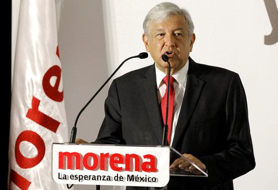 안드레스 마누엘 로페스 오브라도르 멕시코 대통령 후보 [로이터=연합뉴스]