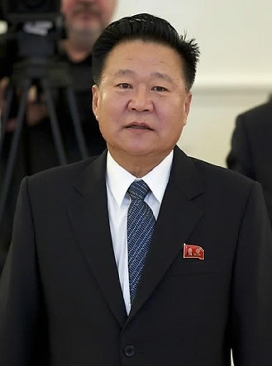 최용해 노동당 부위원장. 북한의 평창 대표단을 이끌 유력 후보다. [중앙포토]