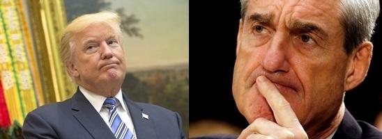 도널드 트럼프 미국 대통령(왼쪽)과 '러시아 스캔들'을 수사 중인 로버트 뮬러 특검. [UPI=연합뉴스, 로이터=연합뉴스]
