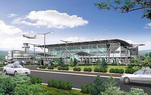 연간 123만명의 승객을 수용할 수 있는 규모로 계획됐던 김제공항 조감도. [중앙포토]