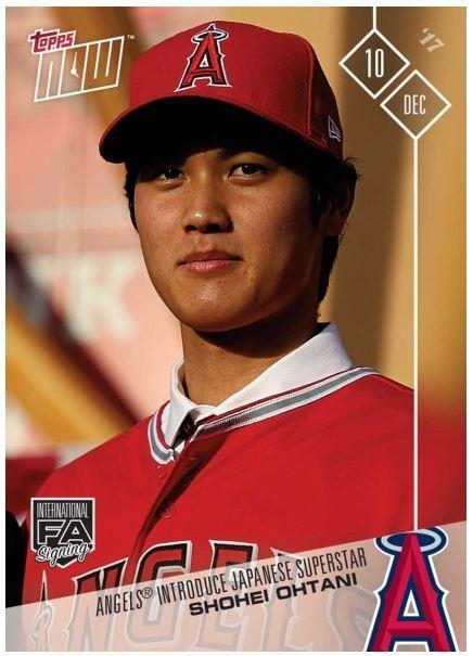 야구카드 판매 신기록을 세운 일본 출신 메이저리거 오타니 쇼헤이(23·LA 에인절스) 야구카드. [사진제공=TOPPS]