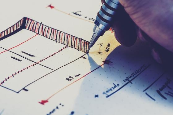 건축 도면. [사진 Pixabay]