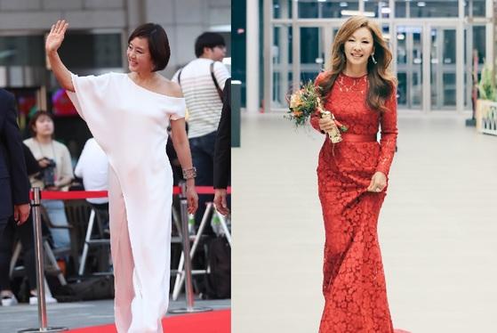 최근 새로운 스타일 아이콘으로 조명받고 있는 두 여배우 장미희(왼쪽)와 이미숙. [사진 일간스포츠·사이더스HQ]