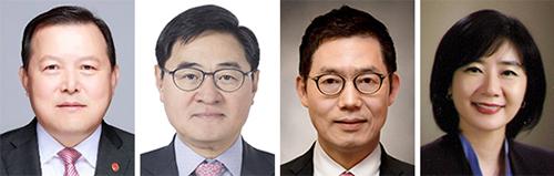 왼쪽부터 황각규, 이봉철, 김현수, 선우영.