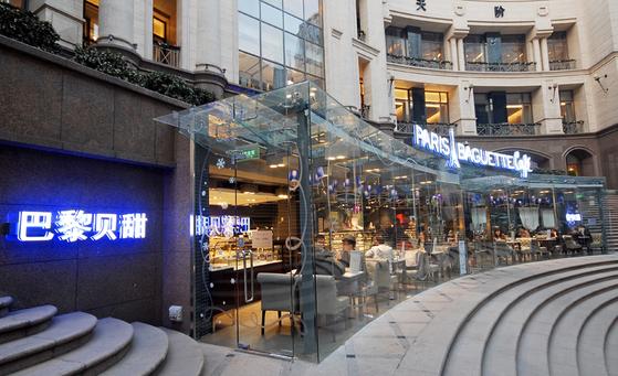 2010년 12월 중국 베이징시 중심가에 문을 연 광화루 파리바게뜨 더 플레이스점 전경. [중앙포토]