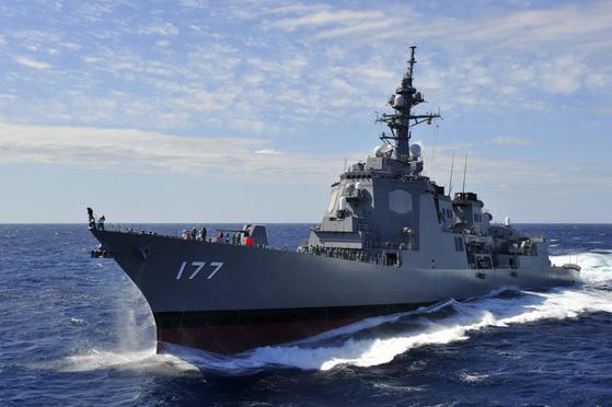 일본 해상자위대의 이지스 호위함인 아타고함. [사진 해상자위대]