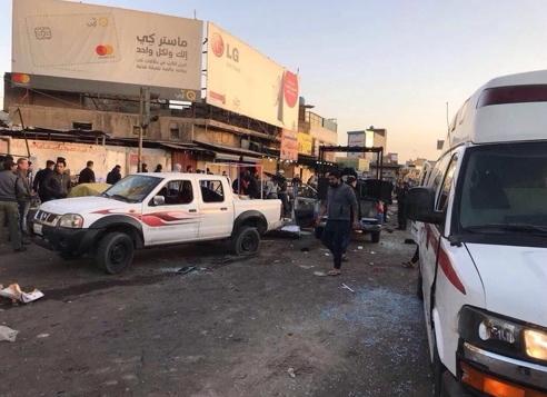 15일 자폭테러가 벌어진 바그다드 시내[루다우=연합뉴스]