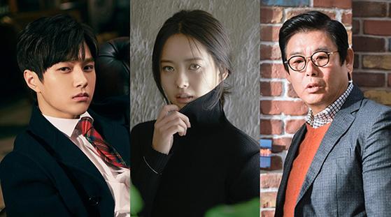 왼쪽부터 김명수, 고아라, 성동일. JTBC가 5월 방송할 드라마 '미스 함무라비'에서 뚜렷이 다른 특징을 지닌 판사 역을 각각 맡았다. [사진=아티스트컴퍼니, 울림엔터테인먼트, 드라마하우스]