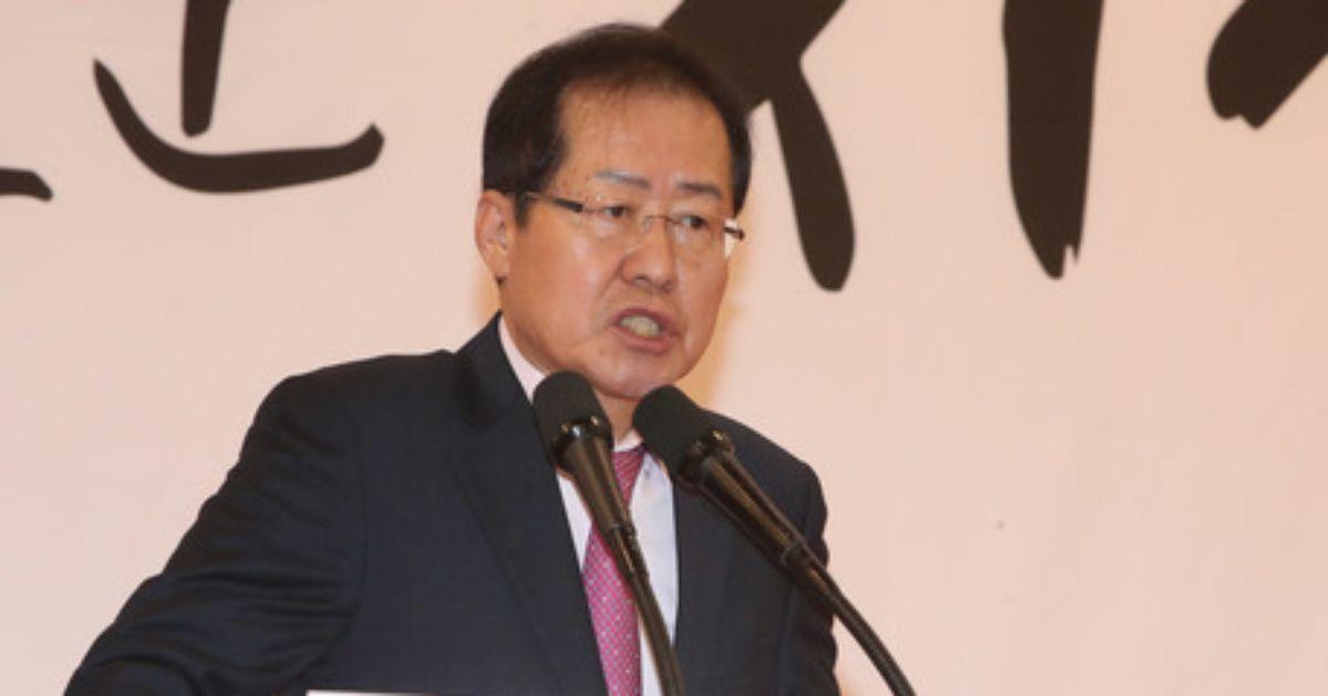 자유한국당 홍준표 대표. 송봉근 기자