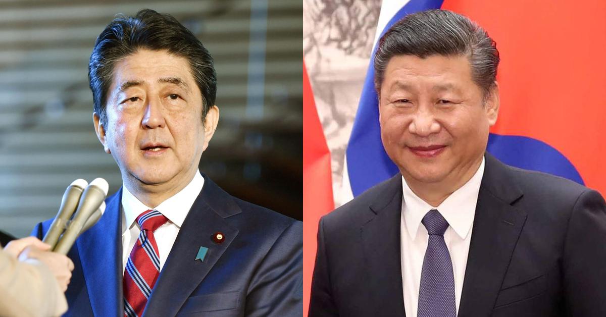 아베 총리, 시진핑 국가주석. [연합뉴스, 중앙포토]
