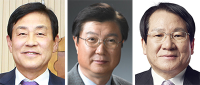 왼쪽부터 김정태, 최범수, 김한조.