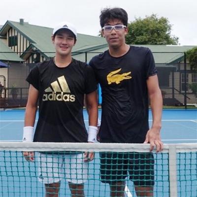 지난 15일 호주오픈 테니스 대회를 앞두고 함께 훈련한 권순우(왼쪽)와 정현. [사진 스포티즌]