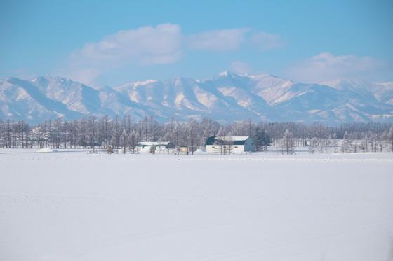 홋카이도 대지가 순백의 눈으로 덮였다. 한겨울 홋카이도를 찾는 여행자가 갈망하는 풍경이다. 홋카이도 중부를 종단하는 도카치연봉이 드러났다.