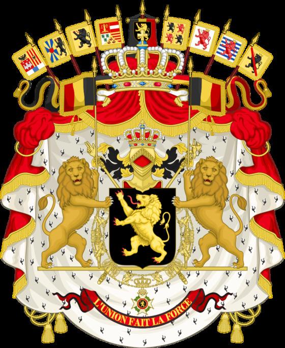 벨기에 왕실의 문장. [위키피디아]