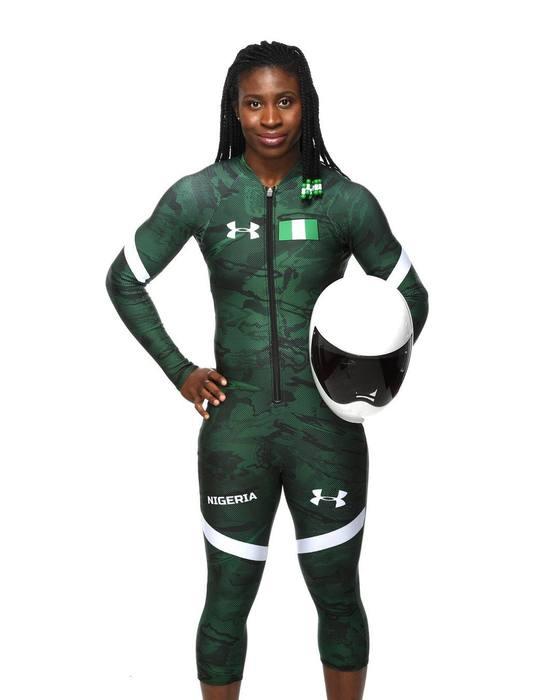 나이지리아 여자 스켈레톤 선수 아델아그보. [사진 아델아그보 페이스북]