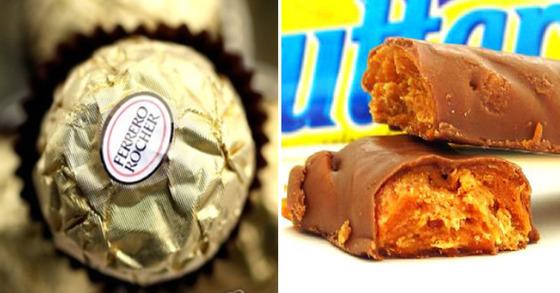 페레로로쉐 초콜릿(좌)과 네슬레 버터핑거(우) [로이터=연합뉴스, 네슬레]