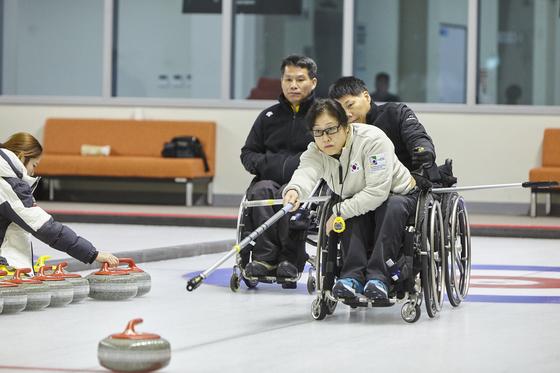 휠체어컬링 국가대표 방민자. [대한장애인체육회]