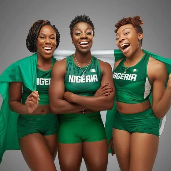 나이지리아 봅슬레이 선수들. 오메오가·아디군·오누메레(왼쪽부터). [사진 나이지리아 봅슬레이스켈레톤연맹]